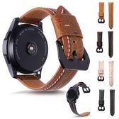三星 Gear S3 三線車縫錶帶 皮質 錶帶 Gear S3錶帶