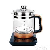 養生壺家用多功能電熱燒水壺全自動玻璃花茶壺黑茶壺煮茶器煲220V