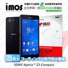 【愛瘋潮】SONY XPERIA Z3 Compact iMOS 3SAS 防潑水 防指紋 疏油疏水 保護貼 現+預