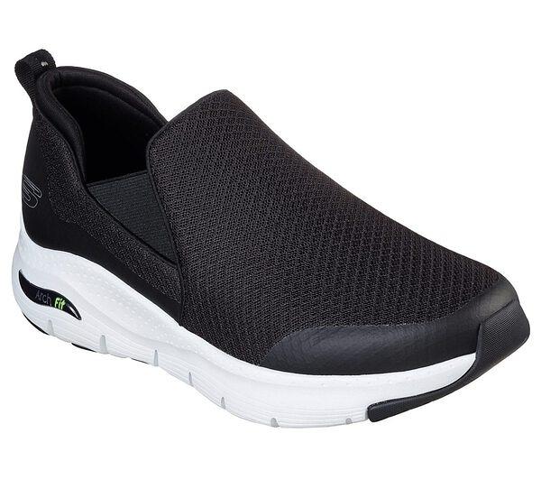 Skechers Air-cooled Arch Fit [232043BKW] 男鞋 運動 健走 休閒 懶人 舒適 黑