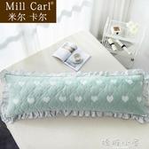 韓版夾棉花邊雙人枕頭套1.5米全棉1.2枕套1.8米純棉長枕芯套加厚 嬌糖小屋