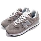 New Balance 慢跑鞋 NB 574 灰 白 男鞋 經典配色 元祖灰 麂皮 舒適大底 休閒鞋 【ACS】 ML574EGGD