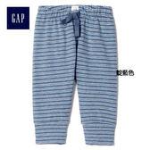 Gap女嬰兒 柔軟條紋毛圈布內搭褲 844270