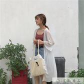 韓版寬鬆薄款喇叭袖雪紡衫防曬衫