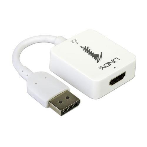 LINDY林帝 HDMI 轉 DisplayPort 4K 轉換器 38146