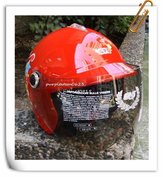 GP-5兒童安全帽,005,馬戲團貓咪/紅