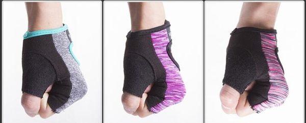運動手套黑色男女士半指