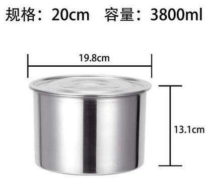 加厚不銹鋼味盅帶蓋 無磁打蛋和麵盆油盆湯飯盆調料盆缸廚房盆子