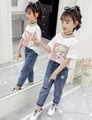 衣童趣↘韓版中大女童 夏日短T 卡通印花上衣 美女少戰士造型短袖上衣