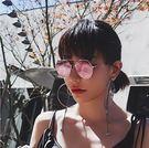 2017新款不規則形太陽眼鏡 超輕不銹鋼...