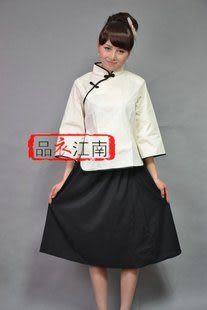 上衣棉麻布料五四學生服裝/民國時期青年