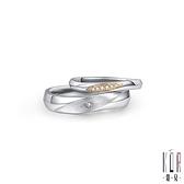 K'OR蔻兒 輕語呢喃鑽石/白鋼成對戒指