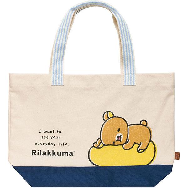 【震撼精品百貨】Rilakkuma San-X 拉拉熊懶懶熊~拉拉熊可愛生活表情系列帆布肩背袋