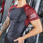 短袖健身衣男透氣修身肌肉訓練服運動衣健身房衣服壓縮緊身服【韓衣舍】