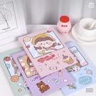 韓國卡通折疊化妝鏡台式桌面可愛少女心鏡子便攜鏡子宿舍梳妝鏡