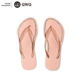 QWQ創意鞋- 璀璨面鑽 施華洛世奇水鑽夾腳人字拖鞋-粉金 (璀璨晶鑽系列 )