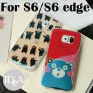 IDEA 三星 S6/S6 edge 熊本熊鐳射藍光TPU手機保護套 雷射全包軟殼 熊本縣 吉祥物 部長 日本 Samsung Galaxy