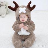 爬行服 女嬰兒秋冬裝卡通造型ins外出連體衣服三個月抱服男幼兒 nm12839【甜心小妮童裝】