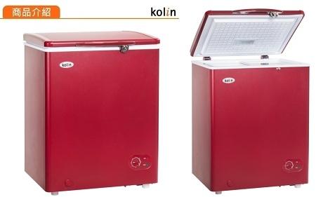 (全新品) 歌林 KOLIN 100公升冷凍櫃 KR-110F02(紅) 全新公司貨 免運費(只送達無安裝)