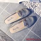 穆勒鞋 單鞋女外穿休閒春新款流蘇無后跟懶人穆勒平底半拖鞋包頭涼拖-Ballet朵朵