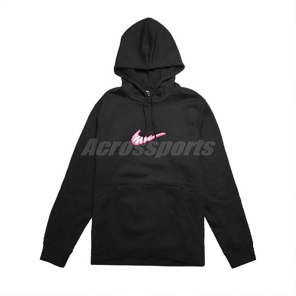 Nike 長袖T恤 SB Fleece Skate Hoodie 黑 粉紅 男款 帽T 運動休閒 滑板 【PUMP306】 BV8733-010