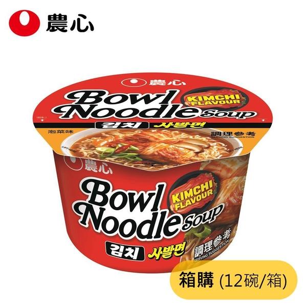 農心 碗麵-泡菜味 (100g/12碗/箱) 成箱購買【杏一】