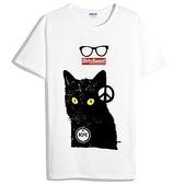 Hope Cat短袖T恤-白色 貓 動物 設計 時尚 390 gildan fruit anvil