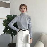 【618好康鉅惠】高領套頭長袖T恤女韓版春季修身打底衫上衣
