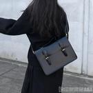 公文包 韓國單肩斜背包包女2020時尚百搭學院公文包大容量復古英倫劍橋包 印象家品