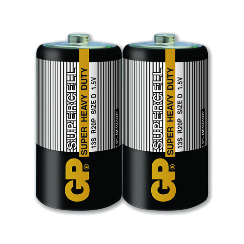 GP超霸 1號超級碳鋅電池(D) 2入 黑色