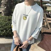 聖誕節交換禮物-7七分袖體短袖t恤男潮韓版