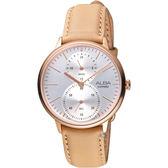 ALBA雅柏日系生活時尚腕錶  VD77-X007J  A3A020X1  膚褐色