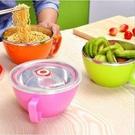 韓式304不鏽鋼碗 附蓋泡麵碗 帶蓋泡麵...