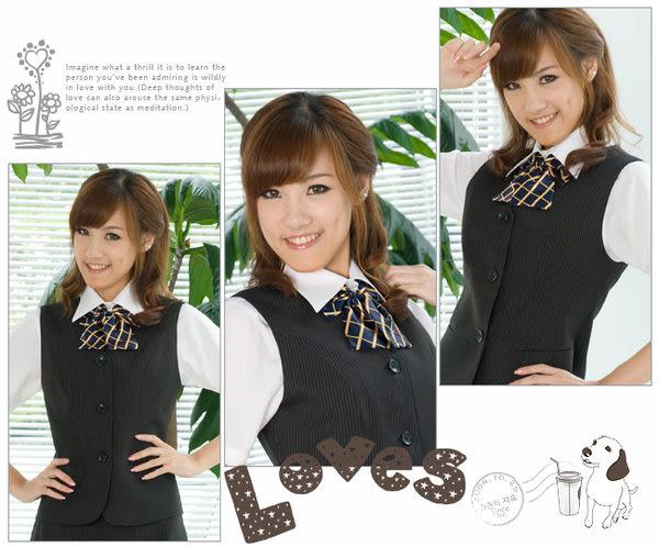 【LG-04】焦點魅力-甜美點綴OL時尚領結(藍底黃格)