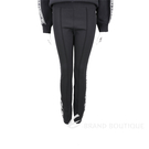 KARL LAGERFELD 字母織帶黑色合身運動褲(女款) 2040433-01