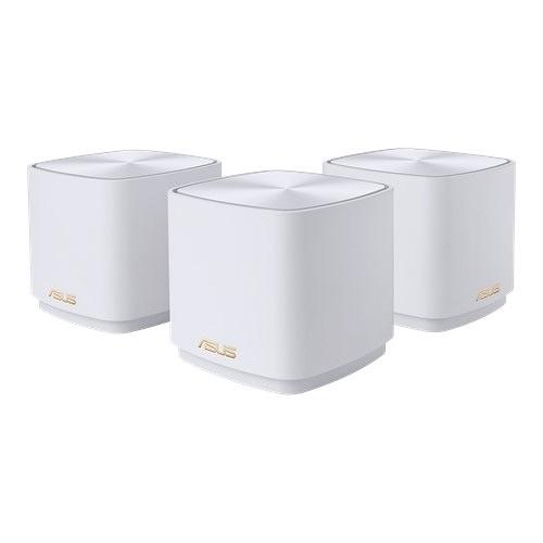 ASUS 華碩 ZENWIFI AX Mini XD4 三入組 AX1800 Mesh 雙頻網狀 WiFi 6 無線路由器(分享器) (白色款)