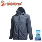 【Wildland 荒野 男 可溶紗環保吸排透氣外套《深灰》】0A71908/連帽防曬/運動休閒/夾克