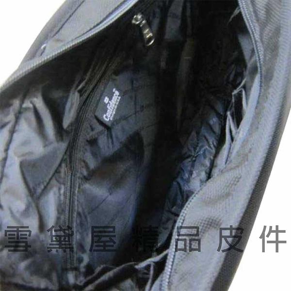 ~雪黛屋~CONFIDENCE 斜側包大容量台灣製造高品質保證高單數防水尼龍布1680D可放A4紙隨身ACB177