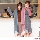 《FA2256》輕盈暖感粗針織寬鬆長版罩...