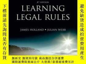 二手書博民逛書店Learning罕見Legal RulesY255174 Jam