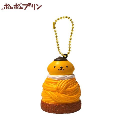 【日本正版商品】 布丁狗 黃色款 蒙布朗 捏捏吊飾 美食 吊飾 擺飾 捏捏樂 Pom Purin 三麗鷗 - 610584