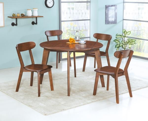 【南洋風休閒傢俱】餐椅系列-淺胡桃色餐椅 北歐鄉村有背餐椅 實木質餐椅 (SB812-4)