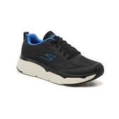 SKECHERS系列-MAX CUSHIONING ECITE 男款黑藍色運動慢跑鞋-NO.54460BKBL
