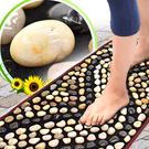 天然鵝卵石路健康步道(密集排列)雨花石腳底按摩墊.石頭穴道按摩步道腳踏墊腳踏板足底指壓板