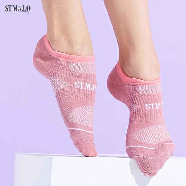 【ST.MALO】X-Static銀纖維99.9%除臭女性船型襪-1976WS-嫩粉紅
