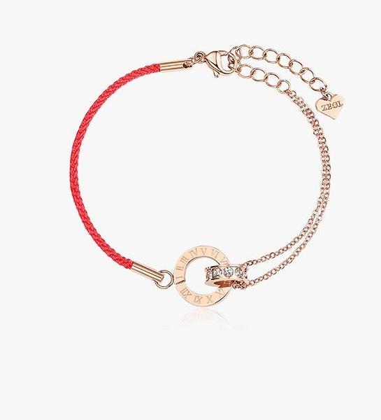 紅繩手鍊女紅色