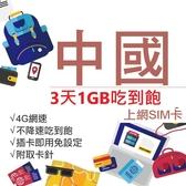 中國上網卡 中國網卡 3天1GB吃到飽 4G網速 中國聯通 免翻牆 隨插即用 網路卡 網卡 上網卡