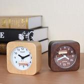 交換禮物-電子鬧鐘床頭鬧鐘創意學生鐘錶 木質簡約復古小鬧鐘台鐘靜音時尚貪睡鬧鐘