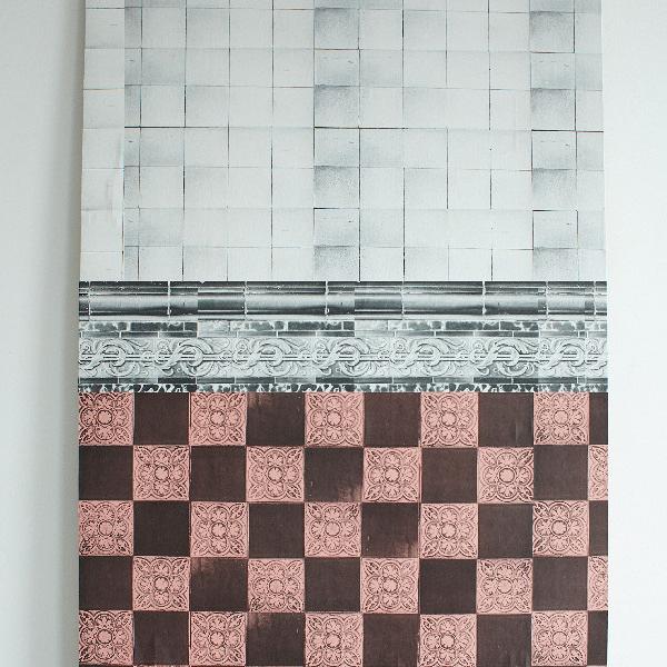 【進口牆紙】 Deborah Bowness 【25.5cm×500cm/卷】 英國 復古 壁腰線  New Cross Tiles Border Wide White