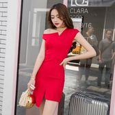 夜店裙子女夏天洋裝新款韓版性感女裝顯瘦春款洋裝夜場時尚連衣裙推薦(全館滿1000元減120)
